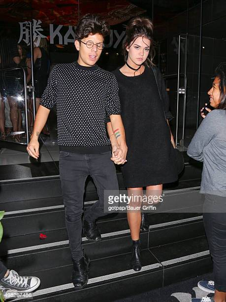 Maia Mitchell and Rudy Mancuso are seen on November 21 2015 in Los Angeles California