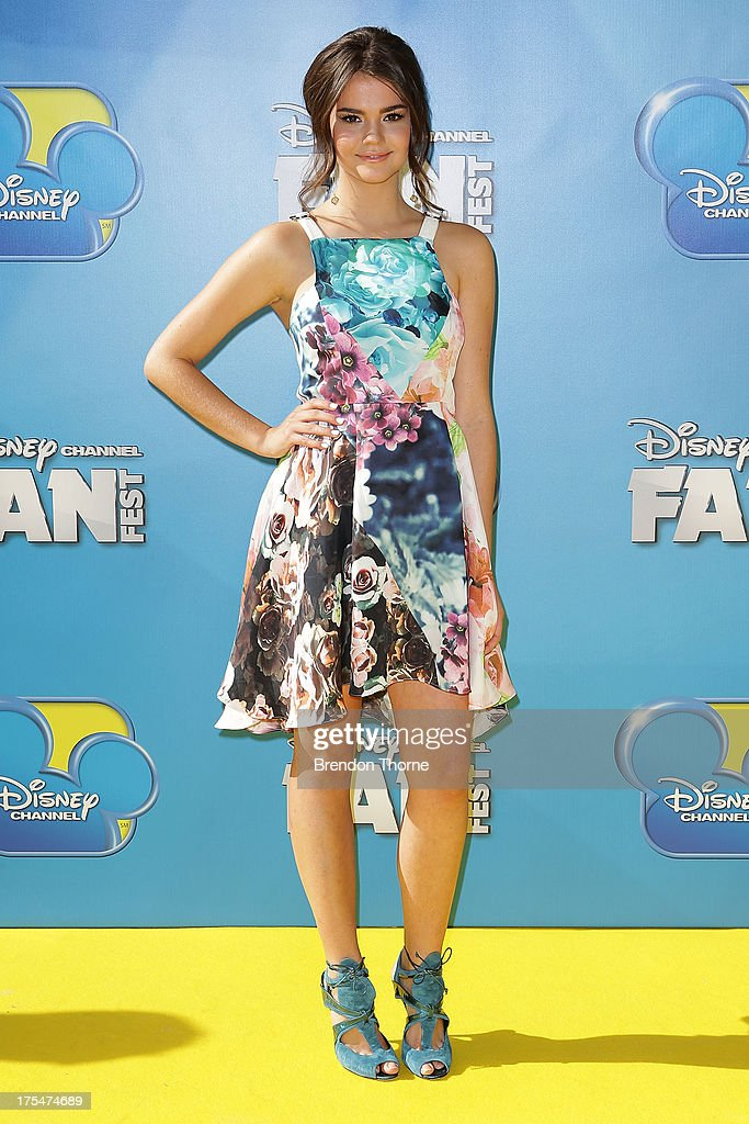 Maia Mitchell arrives at the Australian premiere of 'Teen Beach Movie' at The Entertainment Quarter on August 4, 2013 in Sydney, Australia.