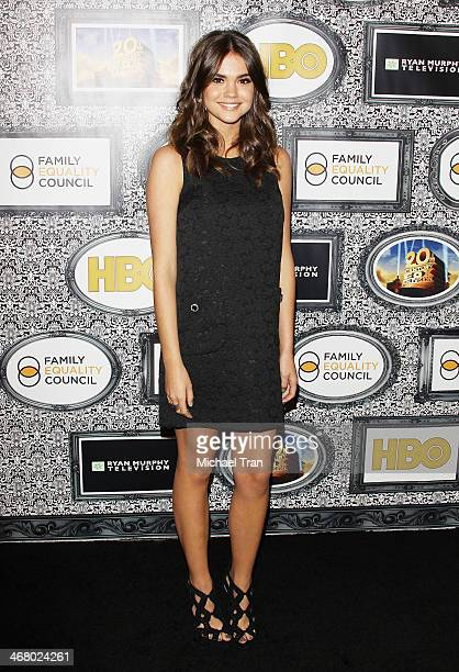 Maia Mitchell arrives at the Family Equality Council's Los Angeles Awards dinner held at The Globe Theatre on February 8 2014 in Universal City...
