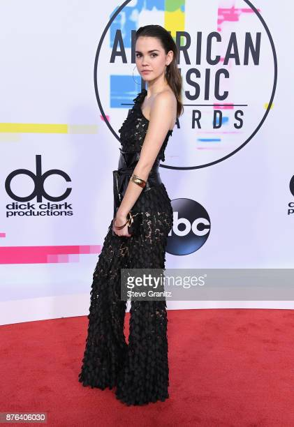 Maia Mitchell attends the 2017 American Music Awards at Microsoft Theater on November 19 2017 in Los Angeles California
