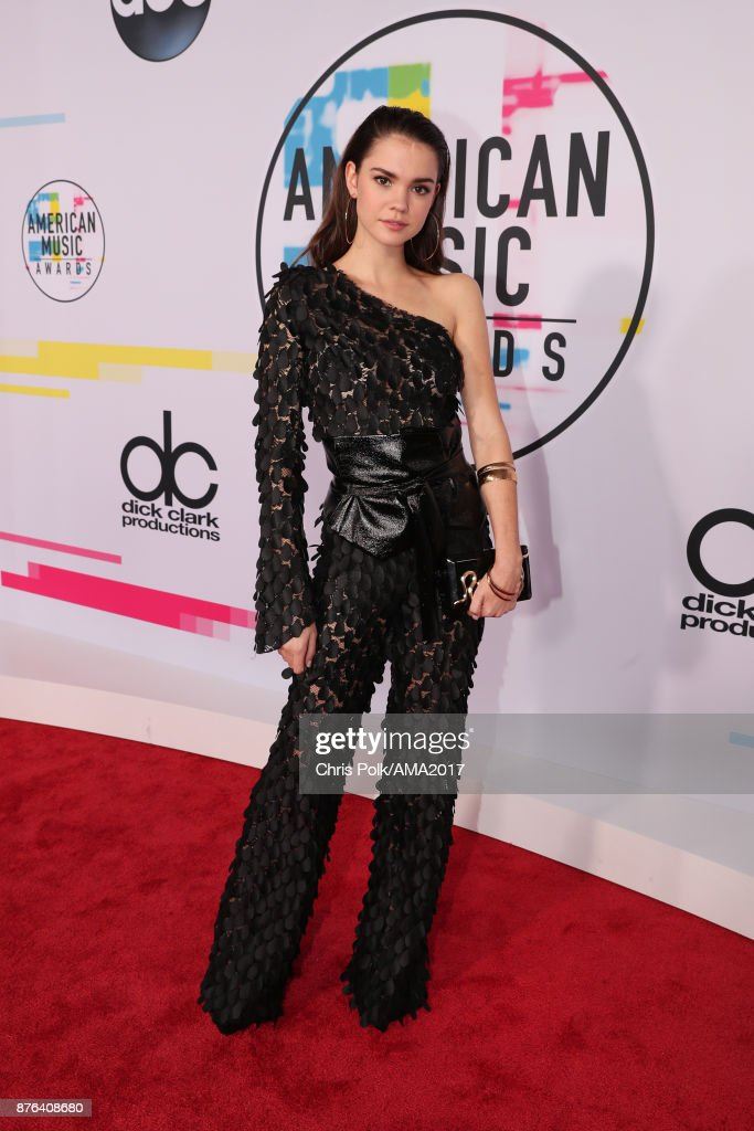 Maia Mitchell attends the 2017 American Music Awards at Microsoft Theater on November 19, 2017 in Los Angeles, California.