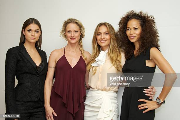 Maia Mitchell Teri Polo Jennifer Lopez and Sherri Saum at 'The Fosters' Press Conference at the Four Seasons Hotel on September 30 2014 in Beverly...