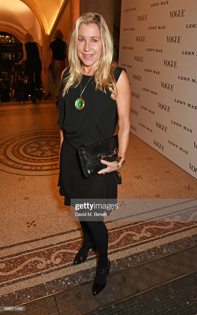 Maia Norman attends a private view of 'Vogue 100: A Century of Style' hosted by Alexandra Shulman and Leon Max at the National Portrait Gallery on February 9, 2016 in London, England.