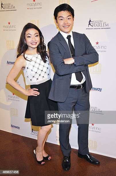 Maia Shibutani and Alex Shibutani attend the 10th Annual Skating With The Stars Benefit Gala at 583 Park Avenue on April 13 2015 in New York City