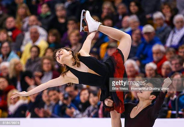 Maia Shibutani and Alex Shibutani of the United States compete during Day 4 of the ISU World Figure Skating Championships 2016 at TD Garden on March...