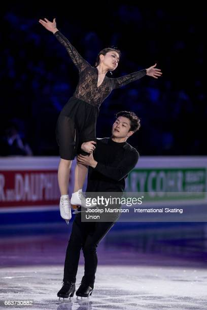Maia Shibutani and Alex Shibutani of the United States perform in the gala exhibition during day five of the World Figure Skating Championships at...