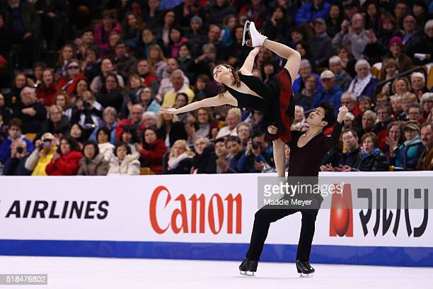Maia Shibutani and Alex Shibutani of the United States skate in Free Dance Program during Day 4 of the ISU World Figure Skating Championships 2016 at...
