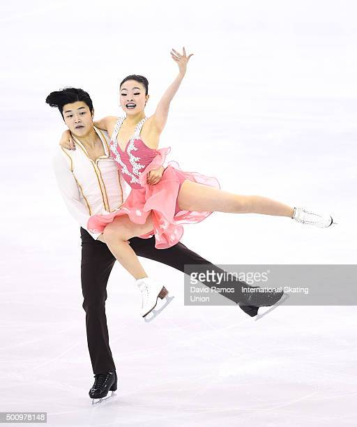 Maia Shibutani and Alex Shibutani of United States during the Dance Short program during day two of the ISU Grand Prix of Figure Skating Final...
