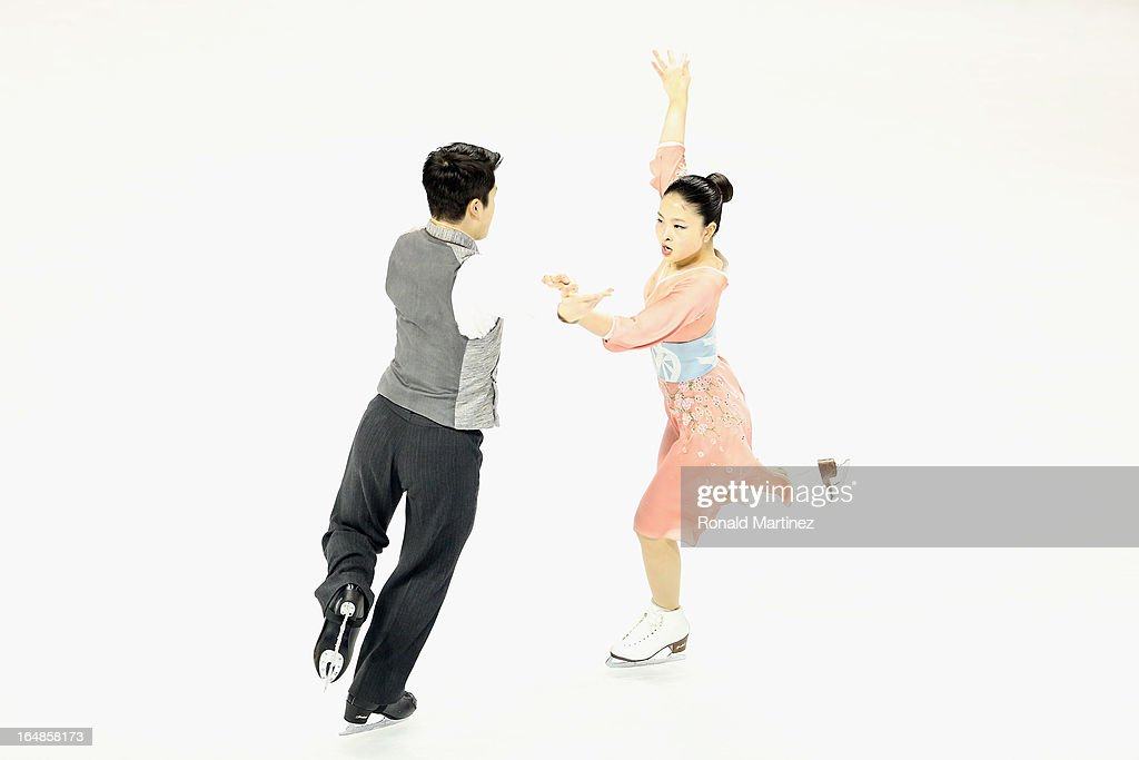 Maia Shibutani and Alex Shibutani of USA compete in the Ice Dance Free Dance during the 2013 ISU World Figure Skating Championships at Budweiser Gardens on March 16, 2013 in London, Canada.