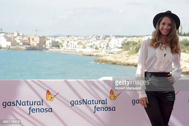 Maiara Walsh attends a photocall for her latest film 'Summer Camp' at the 48th Sitges Film Festival on October 10 2015 in Sitges Spain
