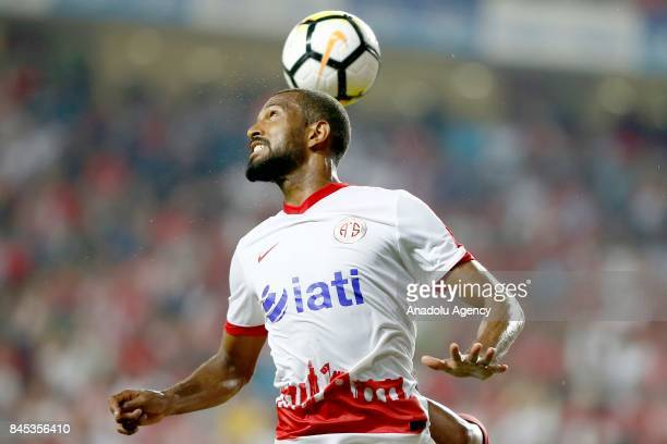 Maicon of Antalyaspor in action during the 4th week of the Turkish Super Lig match between Antalyaspor and Galatasaray at the Antalya Stadium in...