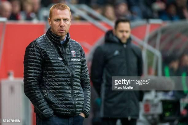 Maik Walpurgis head coach of Ingolstadt during the Bundesliga match between FC Ingolstadt 04 and Werder Bremen at Audi Sportpark on April 22 2017 in...
