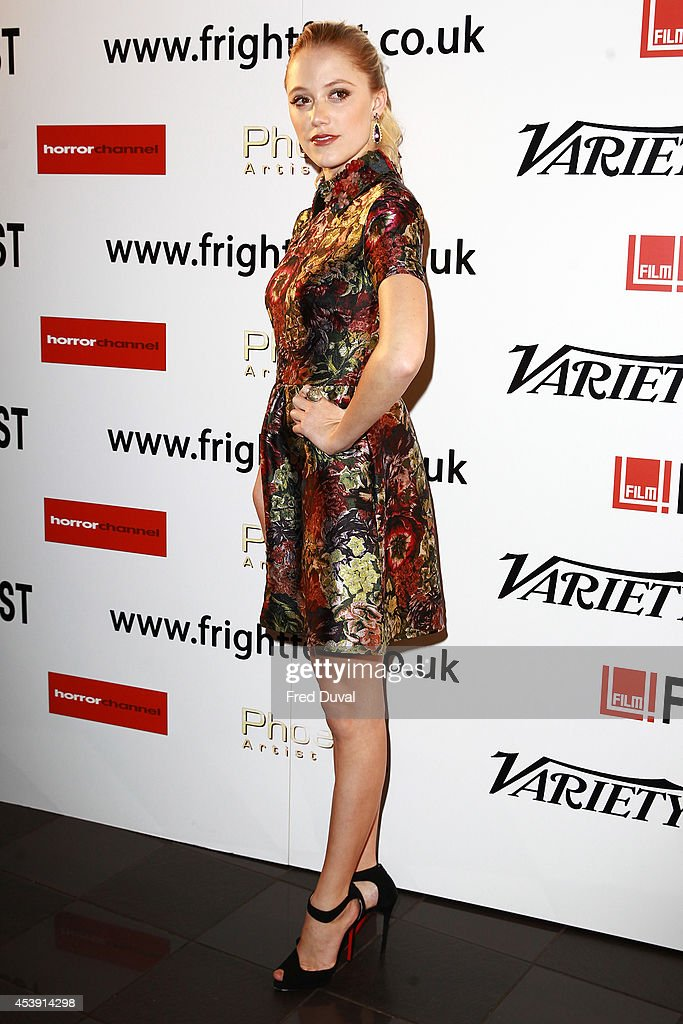 Maika Monroe attends the UK premiere of 'The Guest' at Vue Leicester Square on August 21, 2014 in London, England.