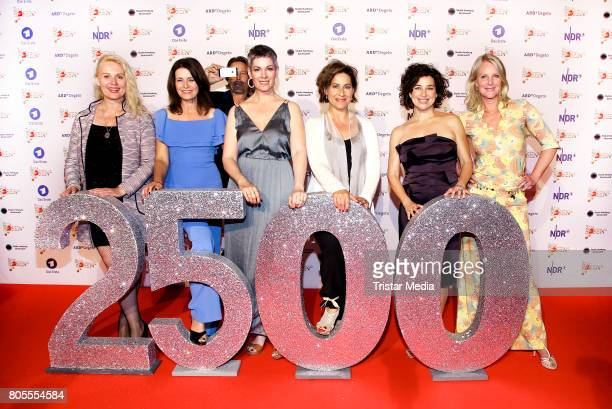 Maike Bollow Patricia Schaefer Cheryl Shepard Mona Klare Isabel Varell and Anne Moll attend the 'Rote Rosen' TV Show Gala To Celebrates 2500 Episodes...