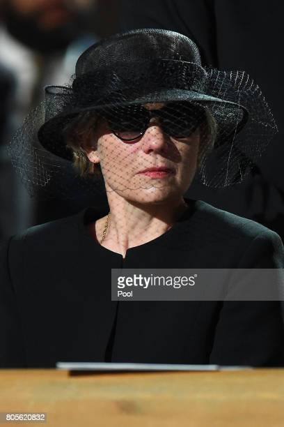 Maike KohlRichter the widow of Helmut Kohl during a requiem for former German Chancellor Helmut Kohl at Speyer cathedral on July 1 2017 in Speyer...
