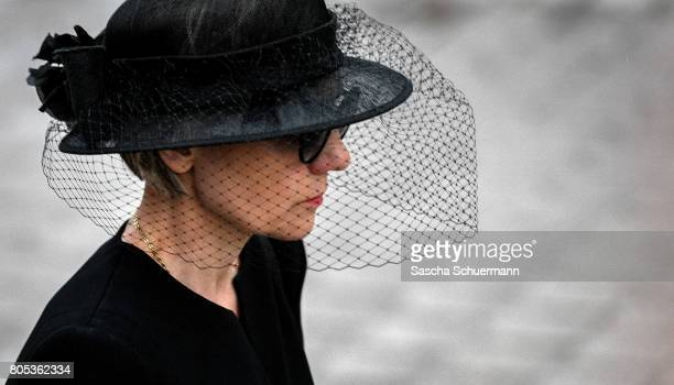 Maike KohlRichter the widow of Helmut Kohl leaves after the requiem the Speyer cathedral on July 1 2017 in Speyer Germany Kohl was chancellor of...