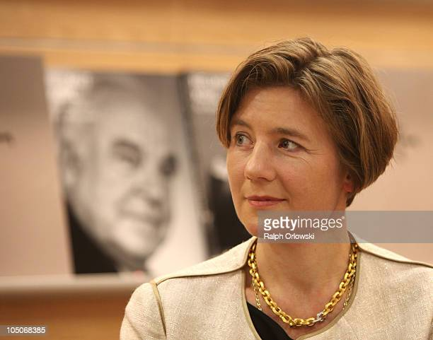 Maike KohlRichter wife of former German Chancellor Helmut Kohl attends the presentation of a Kohl photobook at the booth of Collection Rolf Heyne...
