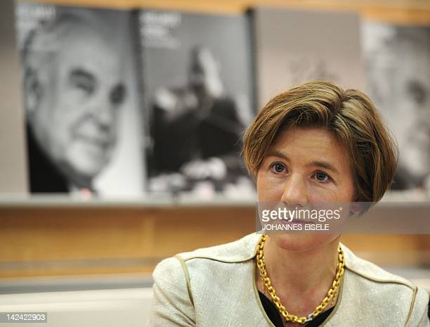 Maike RichterKohl the wife of former German Chancellor Helmut Kohl is pictured during the presentation of a photo book about Kohl at the book fair in...