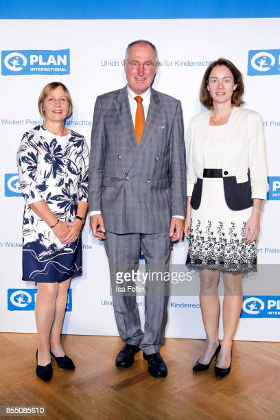 Maike Roettger CEO Plan International Germany Werner Bauch chairman of the board Plan International Germany and German politician Katarina Barley...