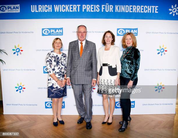 Maike Roettger CEO Plan International Germany Werner Bauch chairman of the board Plan International Germany German politician Katarina Barley and...