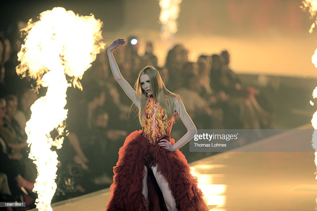 Maike van Grieken performs during the final of 'Germany's Next Top Model by Heidi Klum ' TV show at SAP Arena on May 30, 2013 in Mannheim, Germany. Lovelyn Enebechi wins the top model crown.