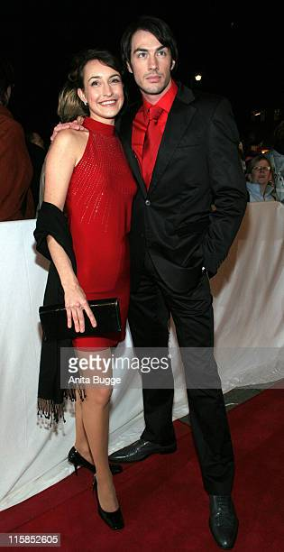 Maike von Bremen and Arne Stephan during Berlin Premiere Musical 'Tanz der Vampire' Arrivals at Theater des Westens in Berlin Berlin Germany