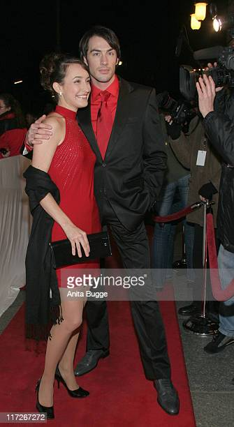 Maike von Bremen and Arne Stephan during Berlin Premiere Musical Tanz der Vampire Arrivals at Theater des Westens in Berlin Berlin Germany