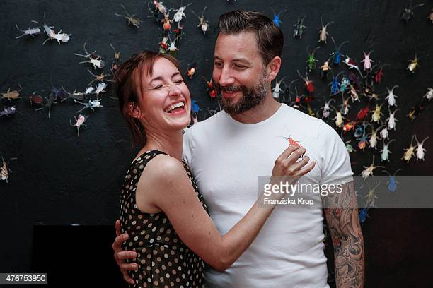 Maike von Bremen and Stephan Huck attend the 'Lobby for a Weekend' Cocktail Prologne In Berlin on June 11 2015 in Berlin Germany