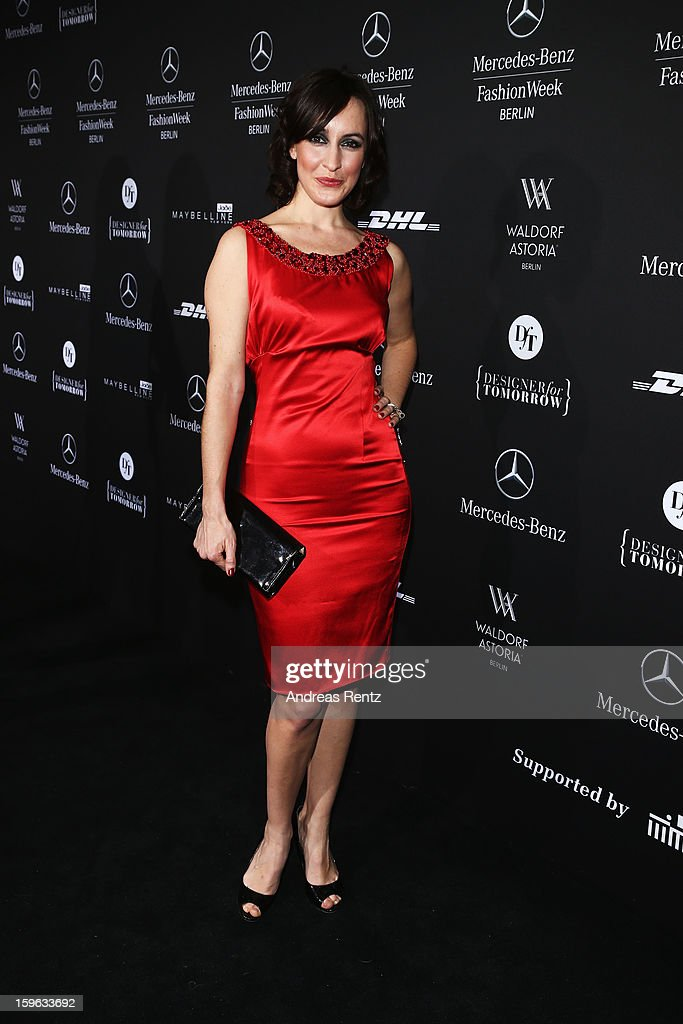 Maike von Bremen attends Guido Maria Kretschmer Autumn/Winter 2013/14 fashion show during Mercedes-Benz Fashion Week Berlin at Brandenburg Gate on January 17, 2013 in Berlin, Germany.
