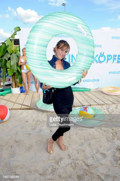 Maike von Bremen attends the Beach BBQ for the German Premiere of 'Kindskoepfe' at O2 World on July 30 2010 in Berlin Germany