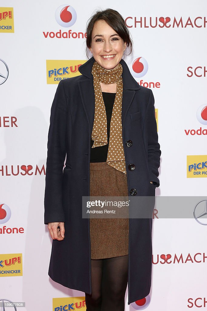 Maike von Bremen attends the 'Der Schlussmacher' Berlin Premiere at Cinestar Potsdamer Platz on January 7, 2013 in Berlin, Germany.
