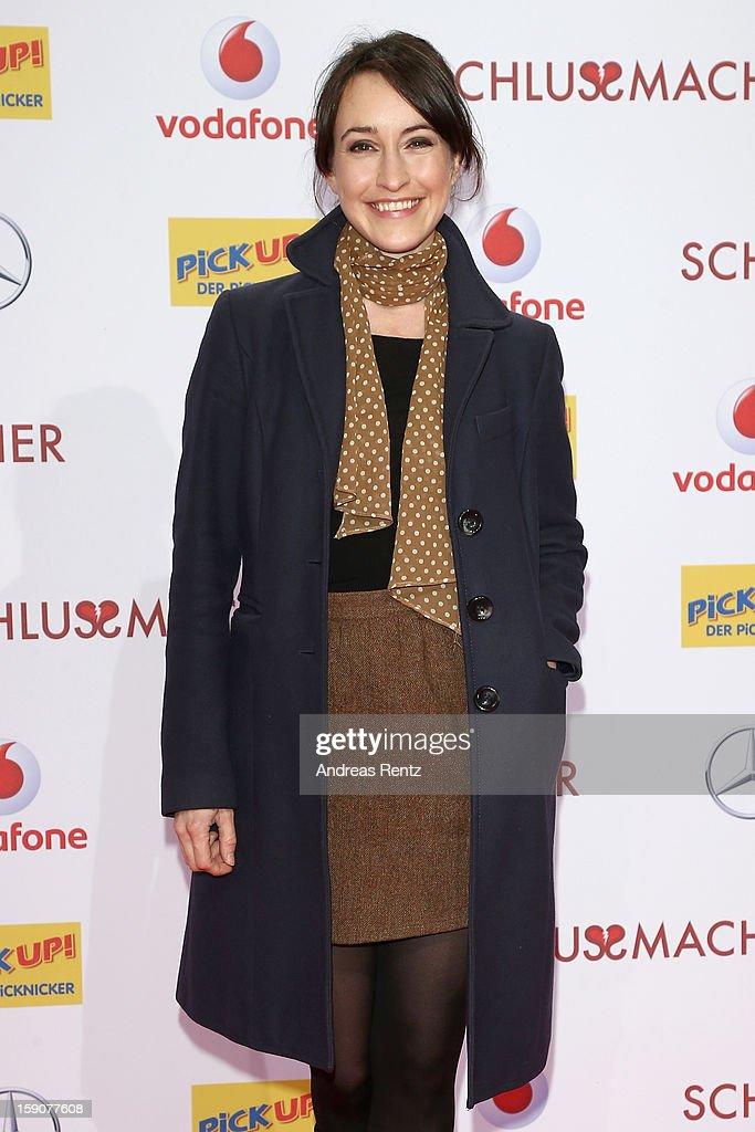 Maike von Bremen attends the 'Der Schlussmacher' Berlin Premiere at Cinestar Potsdamer Platz on January 7, 2013 in Berlin, Germany.
