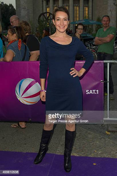Maike von Bremen attends the 'Die Schlikkerfrauen' photocall at Babylon on September 17 2014 in Berlin Germany