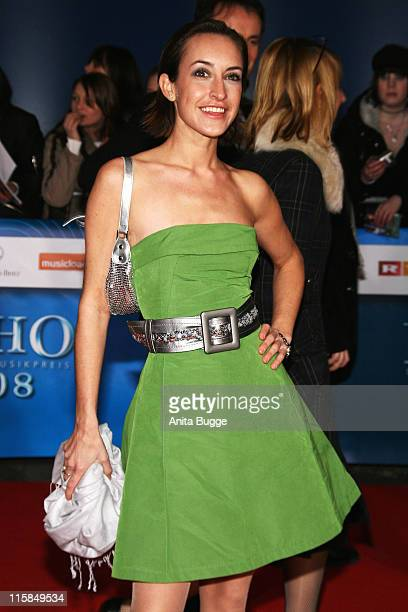 Maike von Bremen attends the Echo Awards 2008 at the ICC Centre on February 15 2008 in Berlin Germany