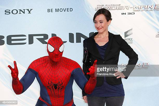 Maike von Bremen attends the 'The Amazing SpiderMan 2 Rise Of Electro' Berlin Premiere at Sony Center on April 15 2014 in Berlin Germany