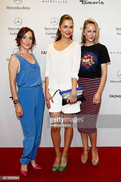 Maike von Bremen Susan Hoecke and Esther Seibt attend the C'est Tout / Ce' Nou show during the MercedesBenz Fashion Week Spring/Summer 2015 at Erika...