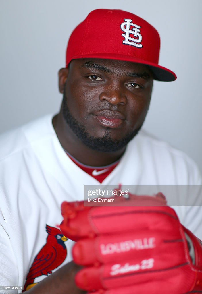Maikel Cleto #63 of the St. Louis Cardinals poses during photo day at Roger Dean Stadium on February 19, 2013 in Jupiter, Florida.