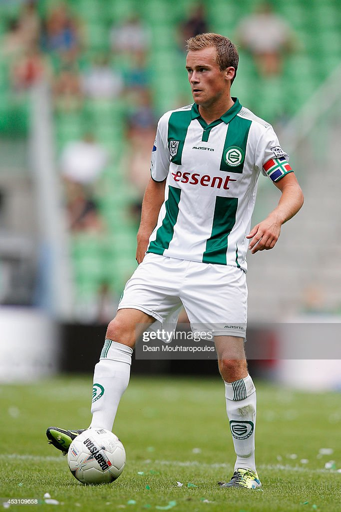 Maikel Kieftenbeld of Groningen in action during the pre season friendly match between FC Groningen and Aston Villa held at the Euroborg on August 2...