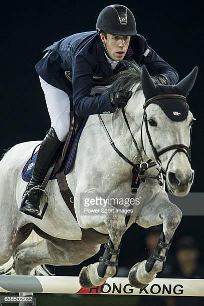 Maikel van der Vleuten of Netherlands riding VDL Groep Eureka at the the Massimo Dutti Trophy during the Longines Hong Kong Masters 2015 at the...
