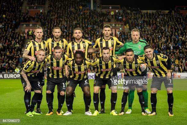 Maikel van der Werff of Vitesse Tim Matavz of Vitesse Guram Kashia of Vitesse Matt Miazga of Vitesse goalkeeper Remko Pasveer of Vitesse Alexander...