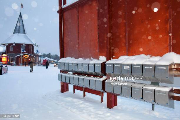 Mail boxes at the Santa Claus Village in Lapland It is also the location of the main Santa Claus Post Office where around half a million letters...
