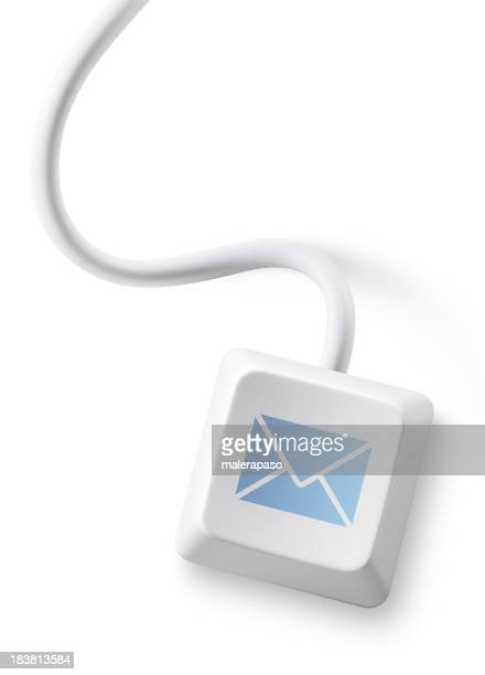Mail. Computer key with envelope icon.