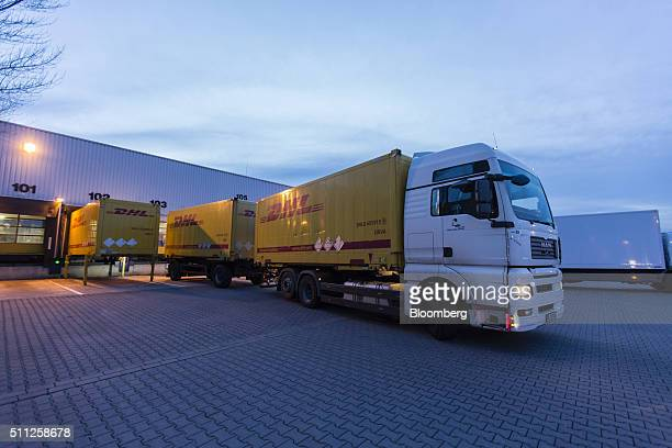 deutsche post dhl stock photos and pictures getty images. Black Bedroom Furniture Sets. Home Design Ideas