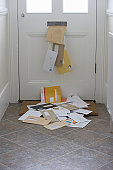 Mail falling from letterbox onto doormat (Digitally Enhanced)