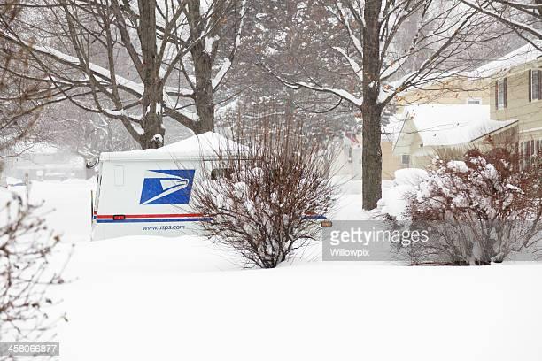 Courrier Postal Service de livraison Camion de Blizzard d'hiver
