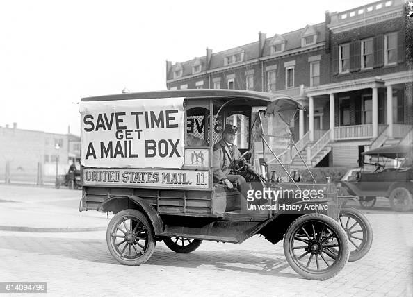 Mail Wagon US Postal Service USA circa 1916