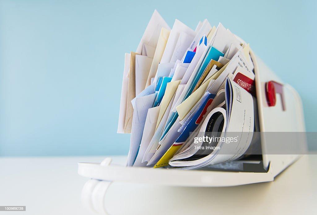 Mailbox full of correspondence