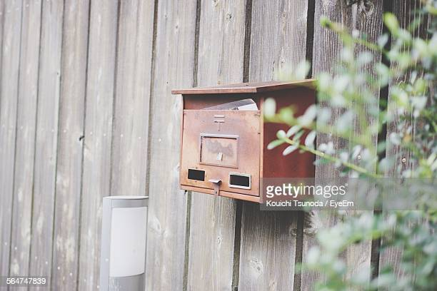 Mailbox On Wooden Wall