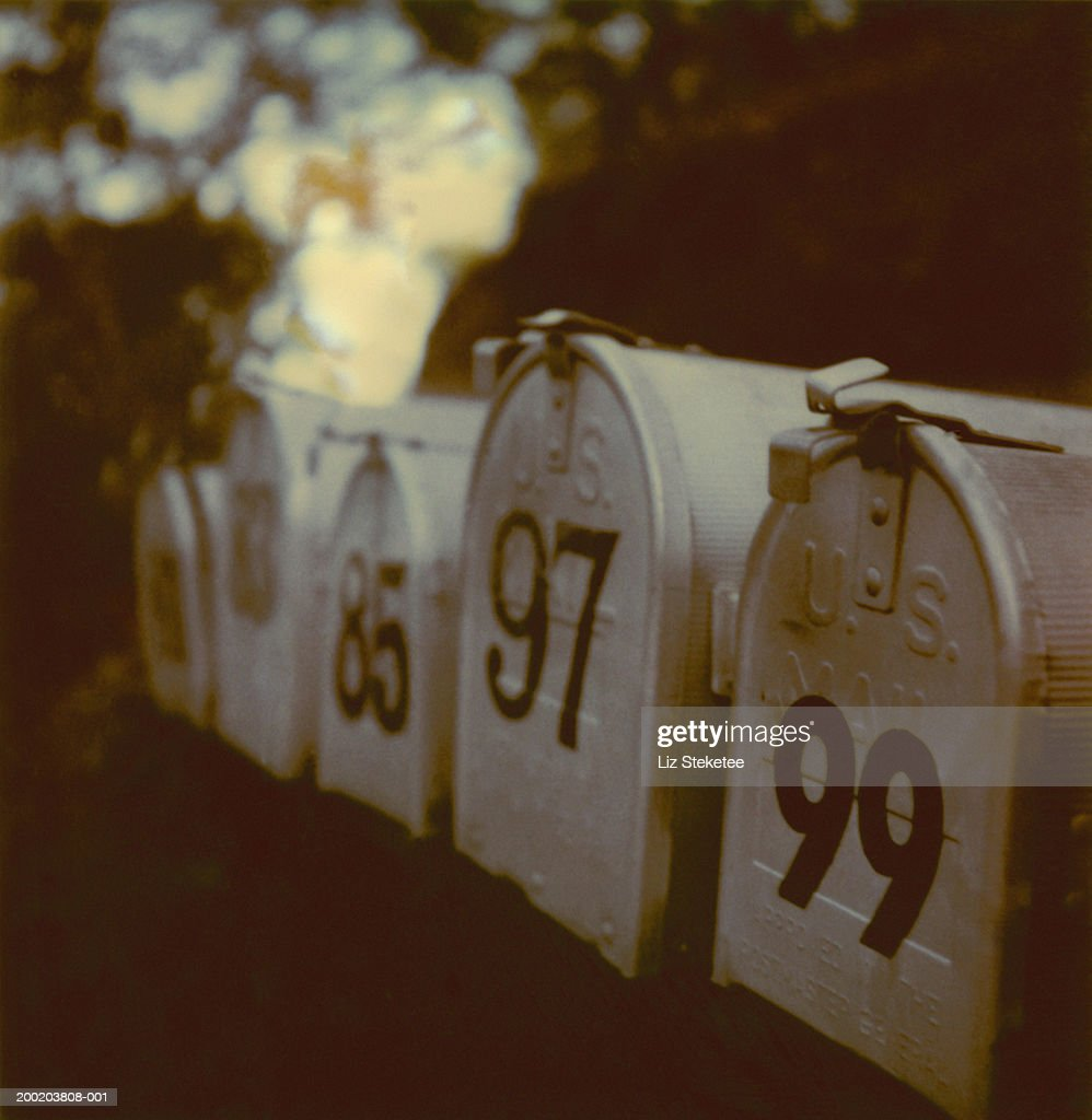 Mailboxes, close-up : Stock Photo