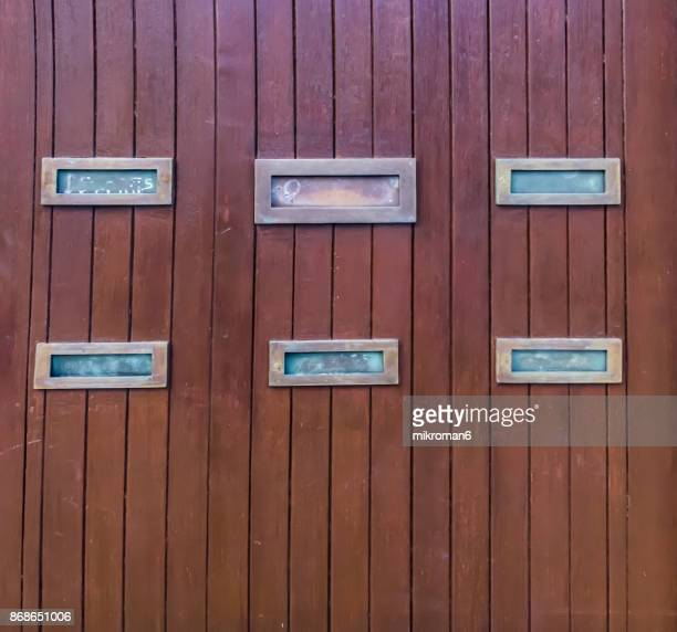 Mailboxes Mounted On Wall